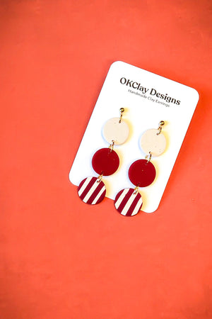 Open image in slideshow, The Trifecta Earrings by OKClay Designs