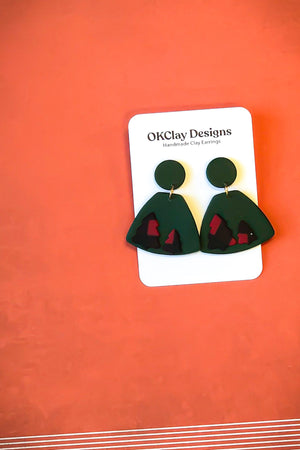 Open image in slideshow, The Trap Earrings by OKClay Designs