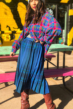 Load image into Gallery viewer, Vintage 70s-80s Blue Plaid Skirt / XS-S