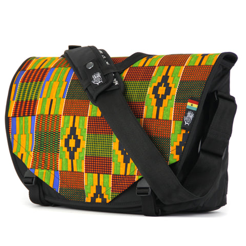 Limited Edition Ghana 17 Acaat Messenger Bag, Messenger Bags, Socially responsible laptop and travel bags by ETHNOTEK