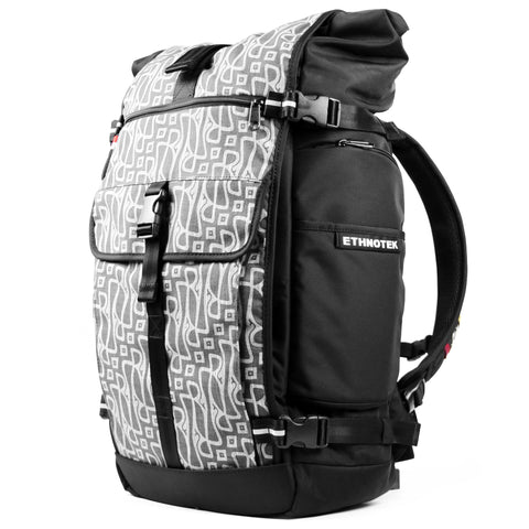 Ethnotek's Indonesia 5 Tek-Thread™ features 840-denier ballistic nylon, reflective webbing, a large zipper pocket and flap & buckle closing pocket with built-in organizer.
