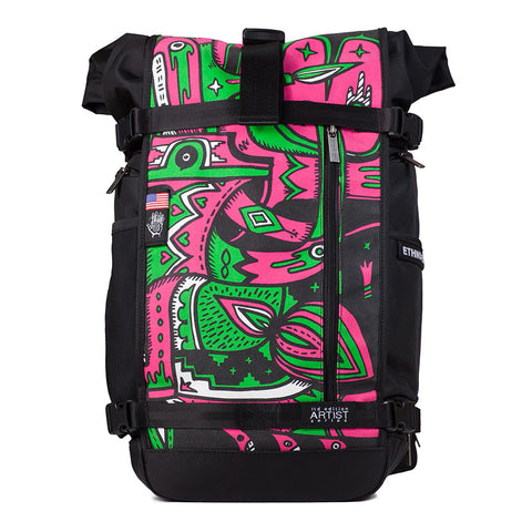 Ethnotek's Artist Series 2 Raja Pack 30 Liters is purpose built for the daily commute, a weekend camping trip, and the occasional cross-continental journey of self-discovery