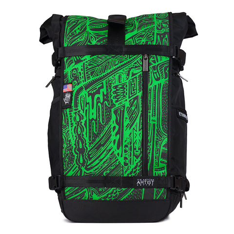 Ethnotek's Artist Series 3 Raja Pack 30 Liters is purpose built for the daily commute, a weekend camping trip, and the occasional cross-continental journey of self-discovery