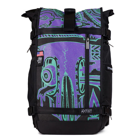 Ethnotek's Artist Series 6 Raja Pack 30 Liters is purpose built for the daily commute, a weekend camping trip, and the occasional cross-continental journey of self-discovery
