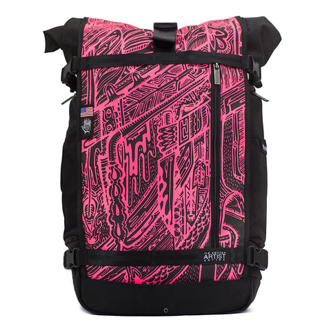 Ethnotek's Artist Series 4 Raja Pack 46 Liter is purpose built for the daily commute, a weekend camping trip, and the occasional cross-continental journey of self-discovery