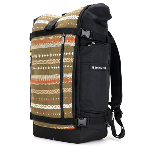 Ethnotek's India 13 Raja Pack 46L Thread™ attaches to the main pack by Velcro and quick release buckles and can be swapped out with other Threads™