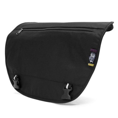 Ballistic Black TEK-THREAD for Acaat Messenger Bag, Messenger Bags, Socially responsible laptop and travel bags by ETHNOTEK
