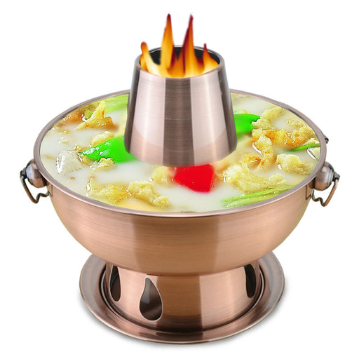 2.8l stainless steel hot pot Beijing traditional charcoal hotpot