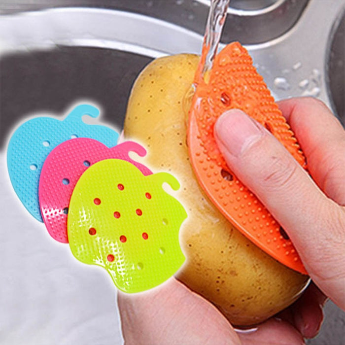 Multi-functional Vegetable and Fruit Cleaning Brush