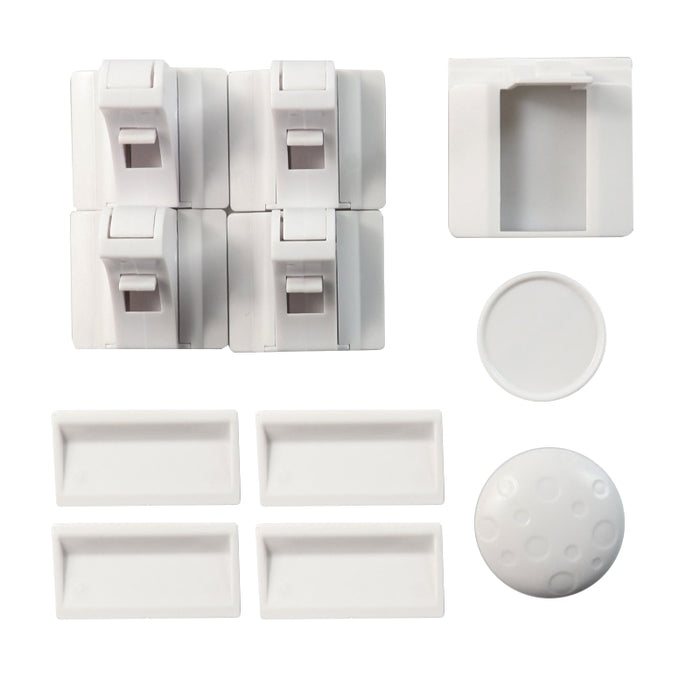 Safety Magnetic Cabinet Locks (4 locks + 1 key)