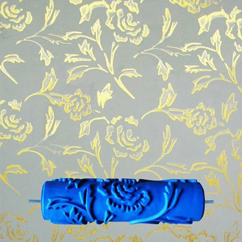 3D Rubber Wall Painting Roller Flower Design