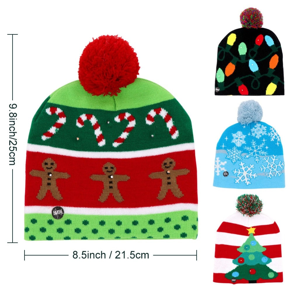 LED Light up Christmas Hat Beanie