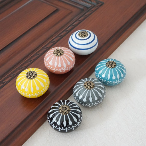 Ceramic Button Cabinet Pull Handle