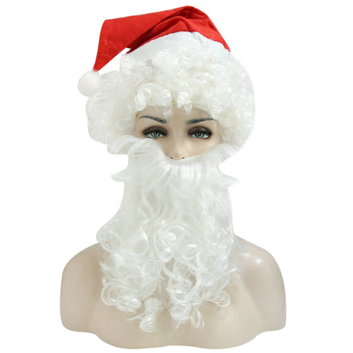 Christmas Hat Santa Claus Wig and Beard Set