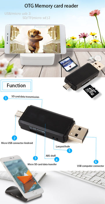 2 in 1 USB ANDROID CARD READER