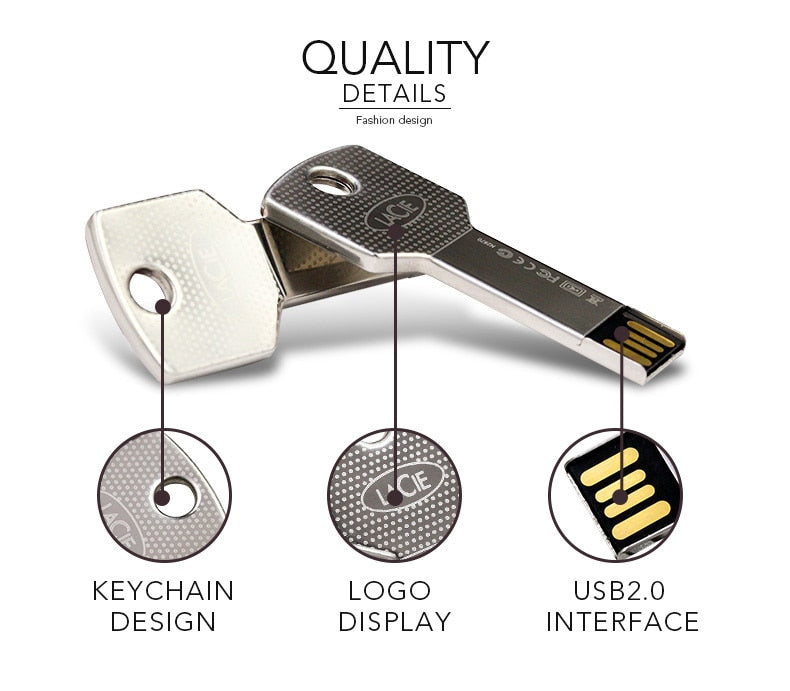 Key Style Design USB Flash Drive