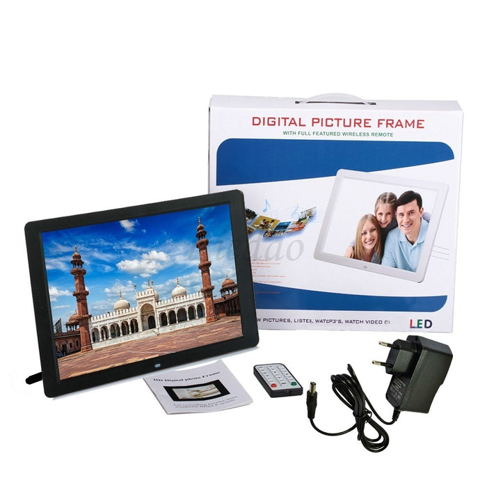 12 Inch HD Digital Photo Frame with Backlight and Music/Video