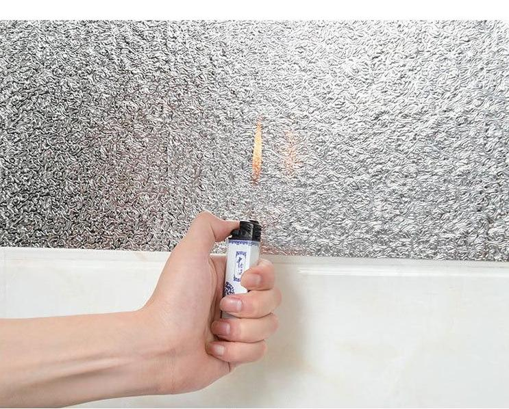 Anti-oil Self-Adhesive Aluminum Wallpaper for Kitchen