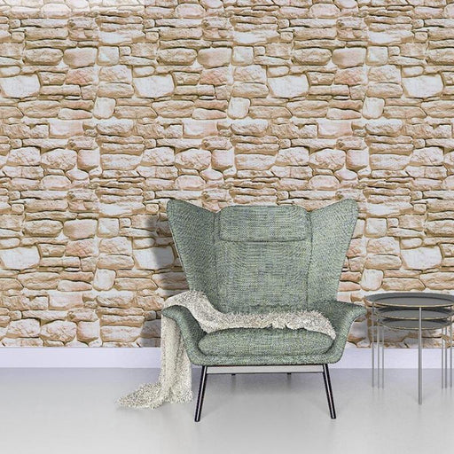 Vintage Vinyl 3D Brick Wallpaper