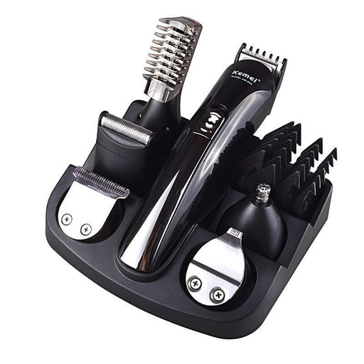 Kemei 6-in-1 Rechargeable Hair Beard Trimmer