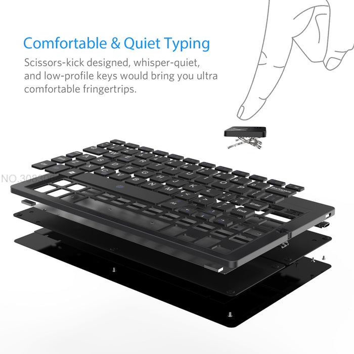 Mini Foldable Keyboard For Phones/tablets