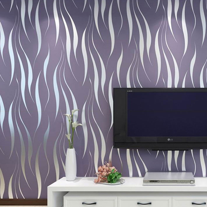 Modern 3D Geometric Stripes Wallpaper
