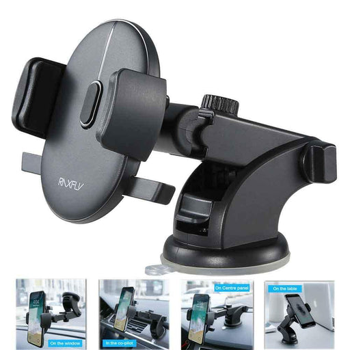 Automatically Locking Windshield Phone Holder Universal Fit