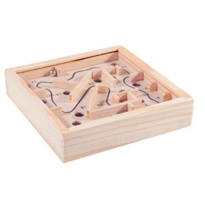 Mini Labyrinth Wooden Game Board Maze