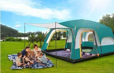 Ultralarge Double Layer Waterproof Camping Tent