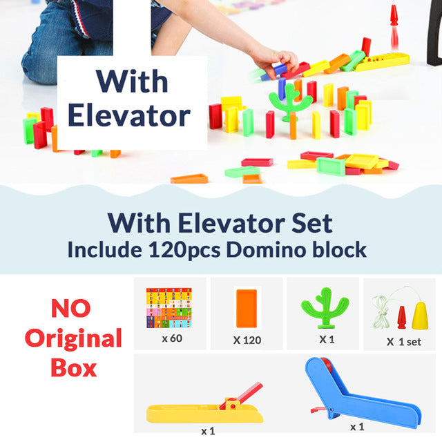 Automatic Train Toy Domino Brick Laying