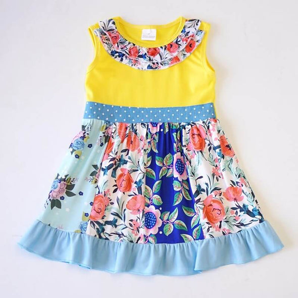 Living The Floral Ruffle Dress Modist Threads Childrens Boutique and Embroidery