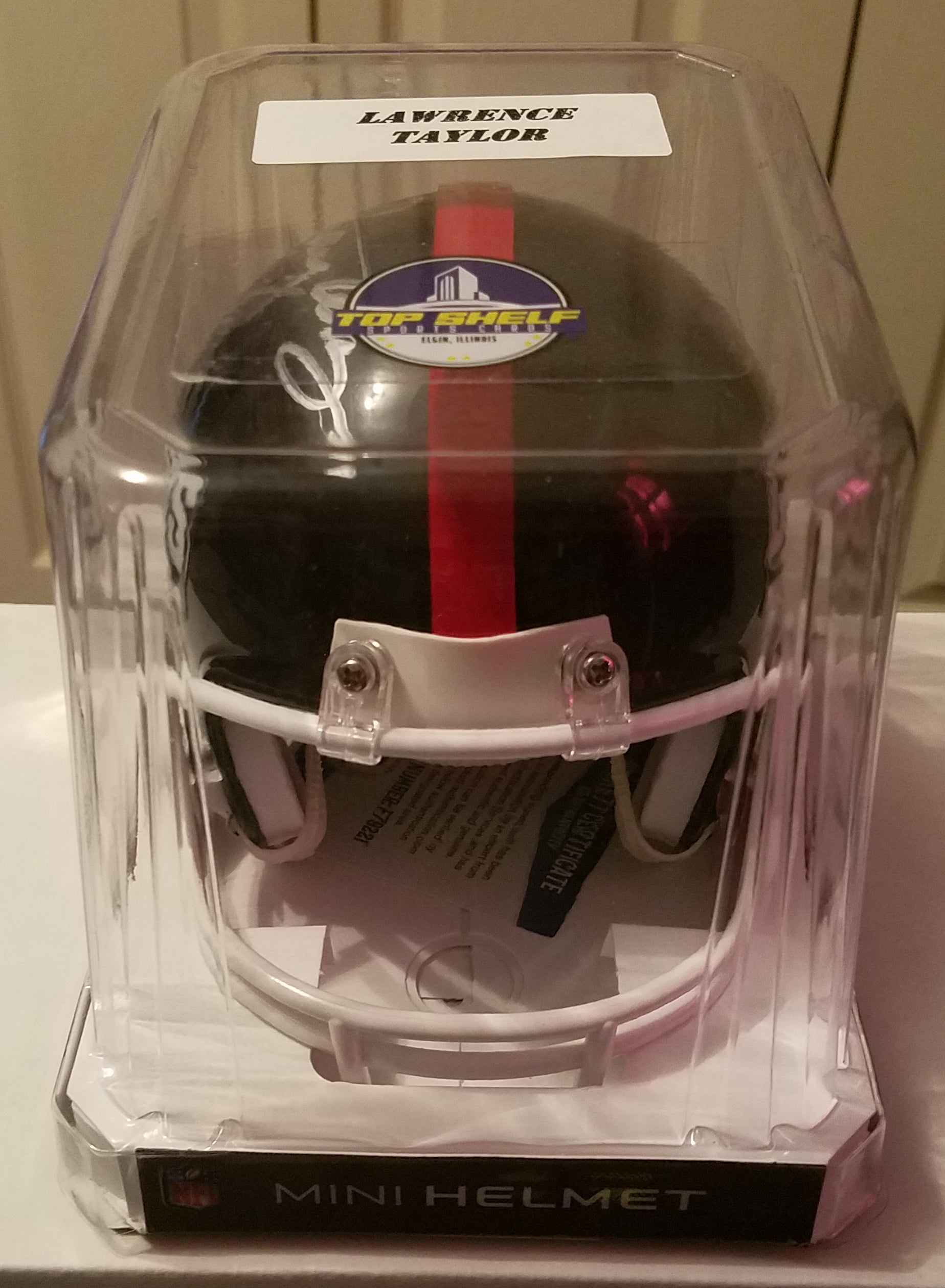 Lawrence Taylor Autographed Mini Helmet New York Giants Hall Of Fame