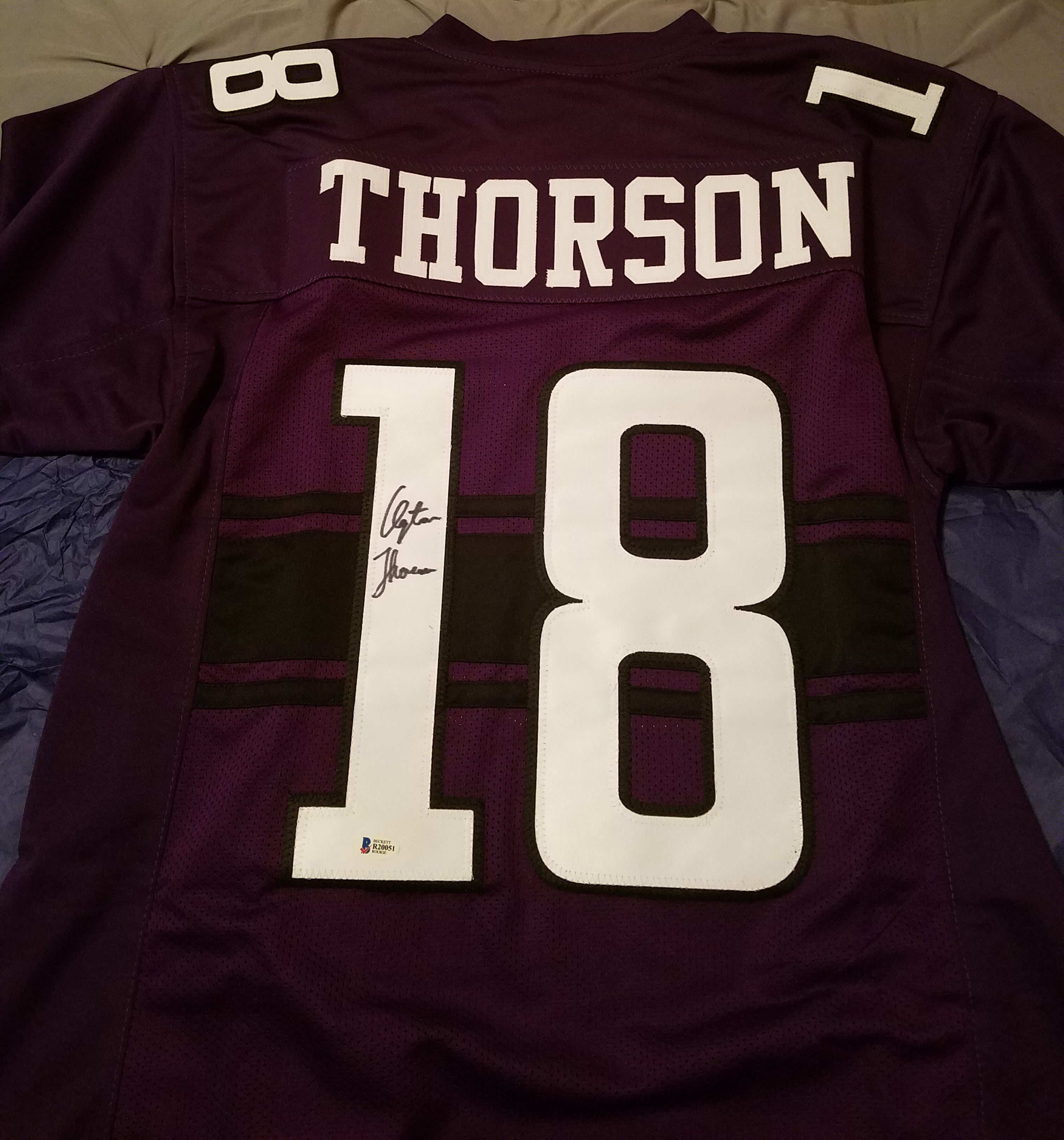 Clayton Thorson Northwestern Wildcats Autographed Jersey w/ COA