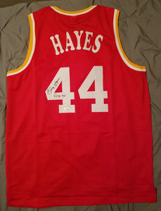 Elvin Hayes Autographed Houston Rockets Basketball Jersey COA