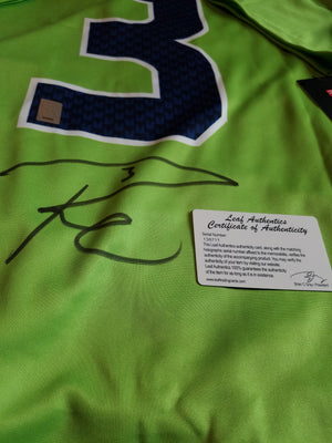 Russell Wilson Autographed Nike COLOR RUSH Seattle Seahawks Jersey