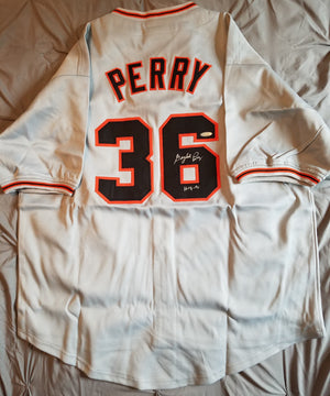 Gaylord Perry Autographed San Francisco Giants Baseball Jersey COA