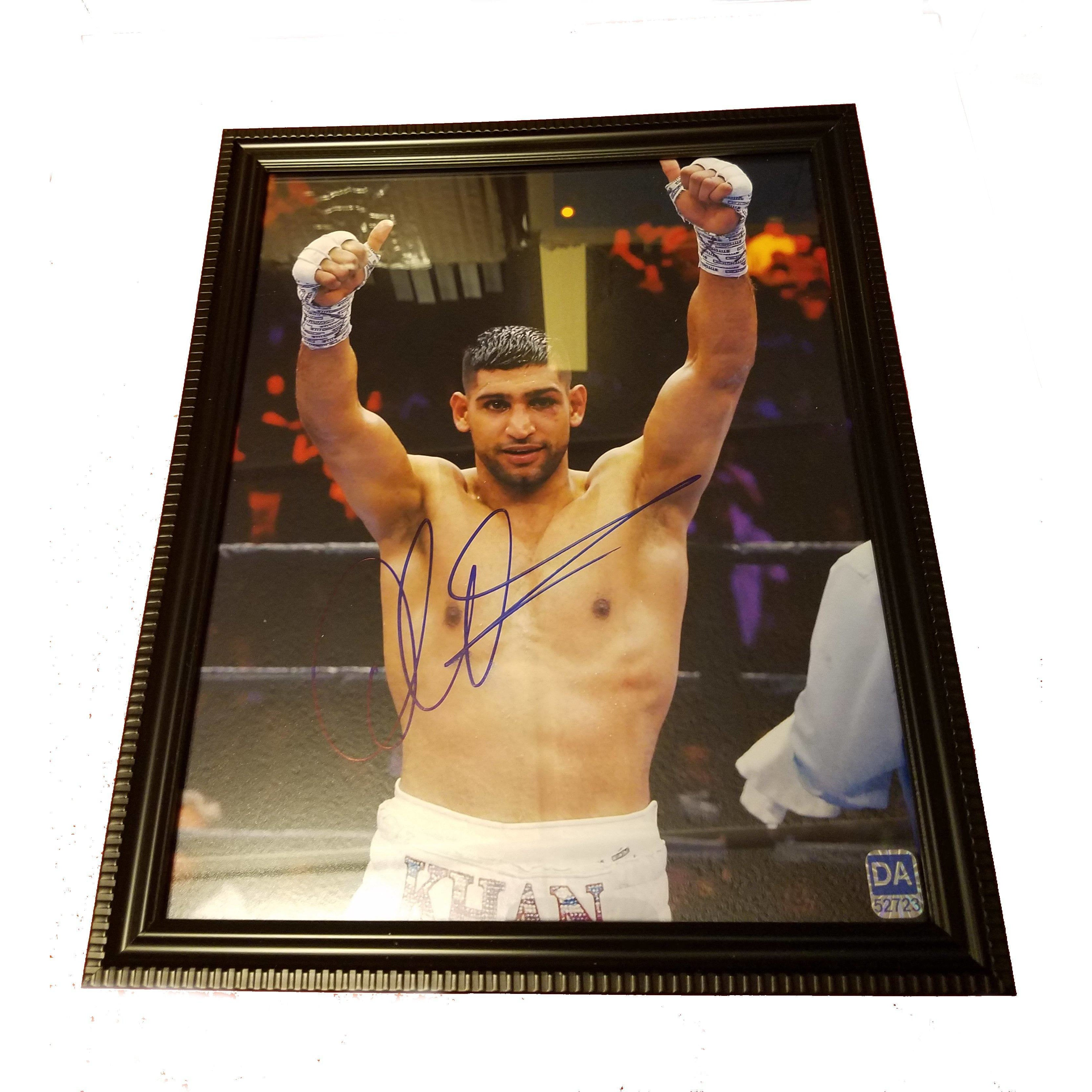 Amir Khan Framed Autographed 8x10 Photo with COA Boxer Unified Champ