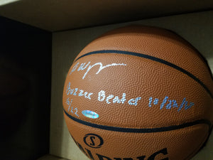 Andrew Wiggins Autographed Basketball 'Buzzer Beater' Inscribed