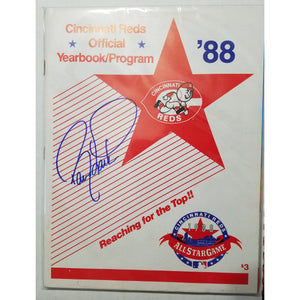 Barry Larkin Autographed 1988 Cincinnati Reds Team Yearbook with COA
