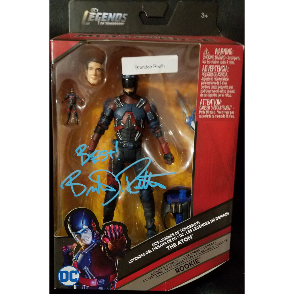 Atom Brandon Routh Legends Of Tomorrow Autographed Action Figure COA