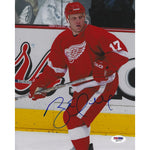 Bret Hull Autographed 8x10 Picture COA NHL Hall Of Fame Red Wings