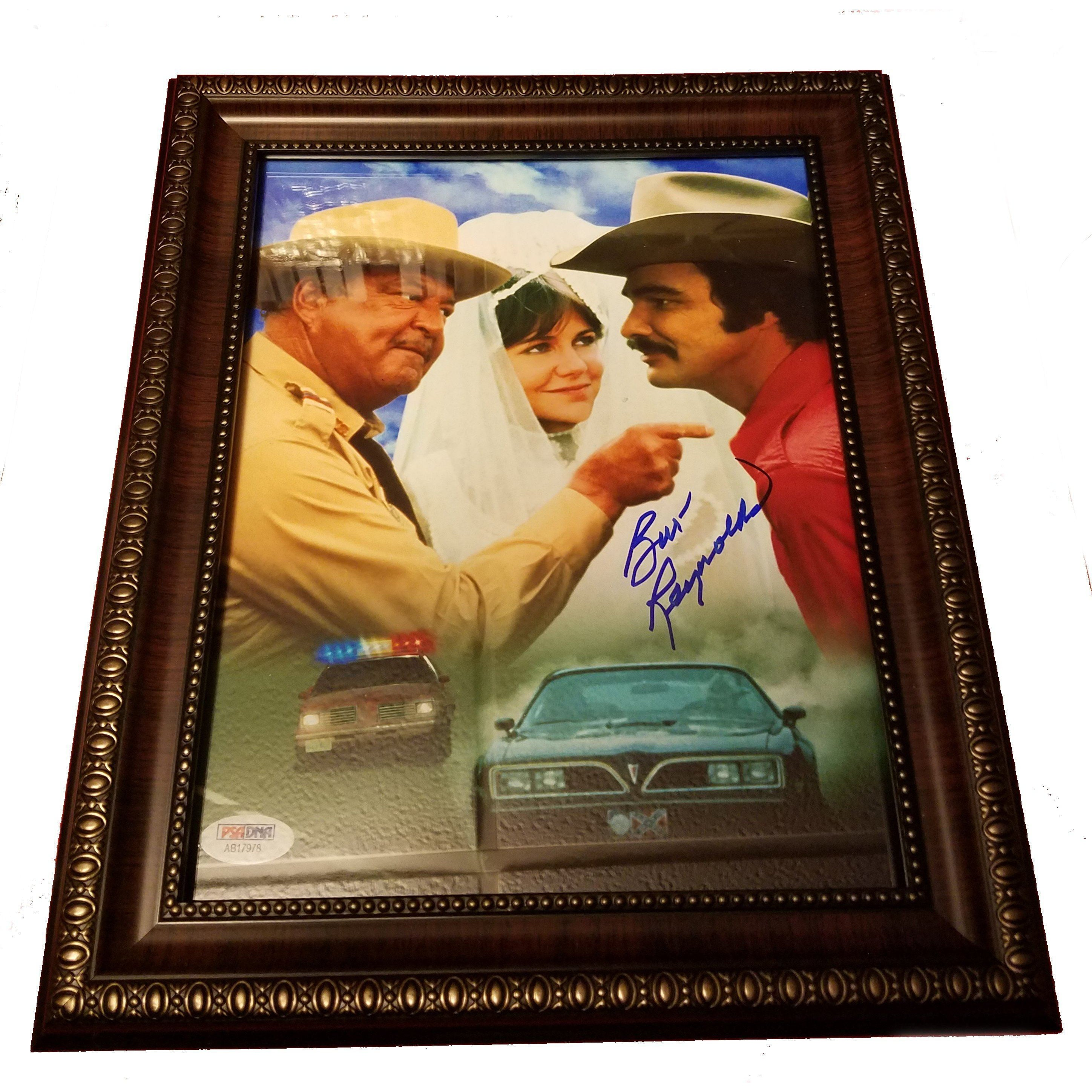 Burt Reynolds Autograph 8x10 with COA Smokey & The Bandit Rustic Frame