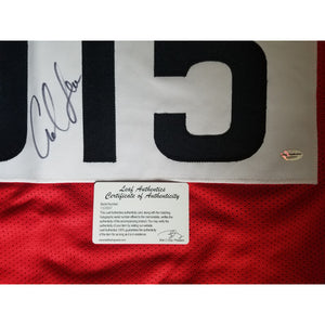 Carl Lewis Autographed Team USA Jersey Leaf COA 9x Gold Medal
