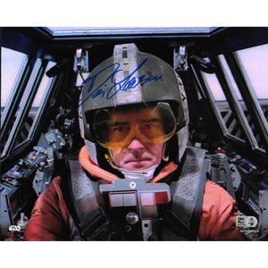 Denis Lawson Wedge Antillies Star Wars X-Wing Autographed 8x10 COA