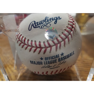 Dodgers Great Duke Snider Autographed Baseball with COA & Ball Display