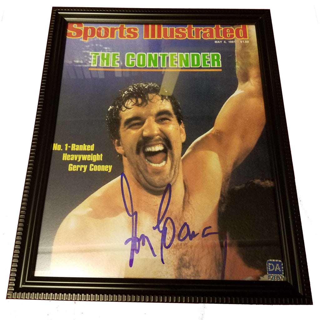 Gerry Cooney Autographed 8x10 Framed With COA Boxer Sports Illustrated
