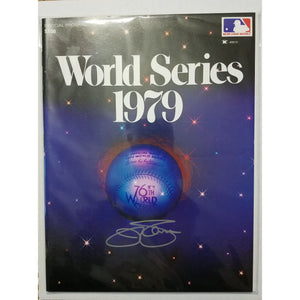 Jim Palmer Autographed 1979 World Series Program COA Baltimore Orioles