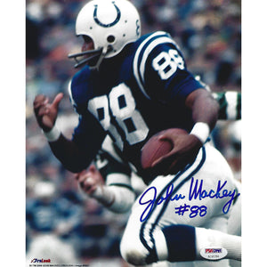 John Mackey Autographed 8x10 Framed COA Baltimore Colts HOF