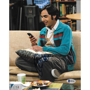 Kunal Nayyar Autographed 8x10 Framed Photo COA Raj Big Bang Theory