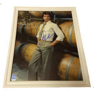 Lorenzo Lamas Autographed 8x10 Framed Picture with COA Falcon Crest
